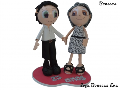 Bonecos em Eva Casal 25 Anos de Casado