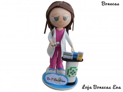 Boneca Eva Farmaceutica Cristina