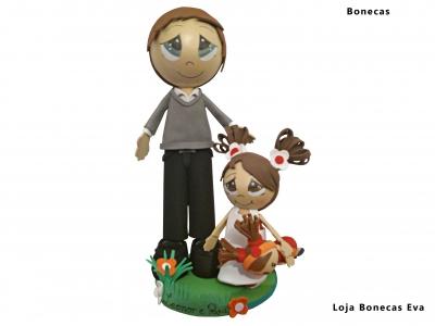 Bonecos Pai e Filha