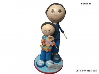 Muñecas de padres e hijos