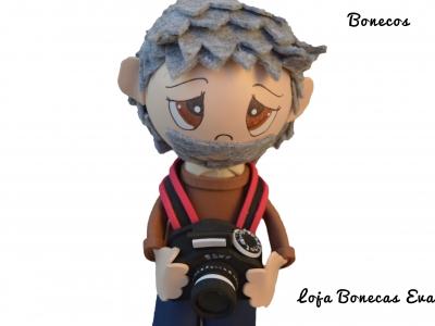 Boneco Fotografo